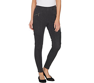 H by Halston Regular Knit Denim Ankle