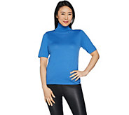 Joan Rivers Lightweight Turtleneck Sweater with Elbow Sleeves - A302708