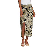 G.I.L.I. Regular Jetsetter Side Slit Maxi Skirt - A306108