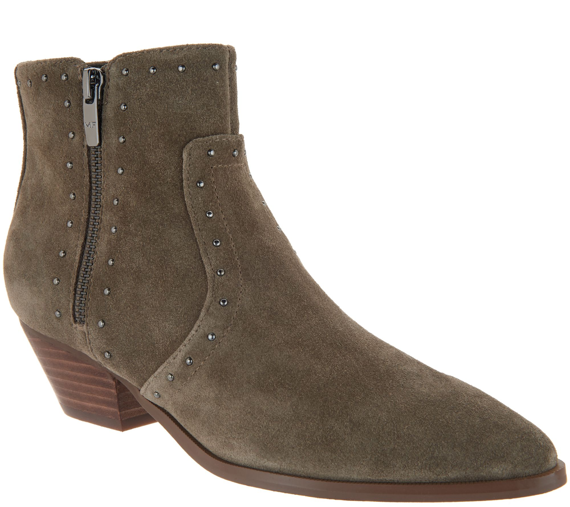 Wanted Shoes Womens Studded Western Style Ankle Bootie