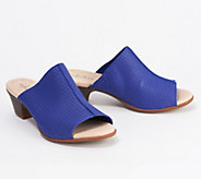 Clarks Collection Leather Heeled Slide Sandals - Valarie Caddy - A350408