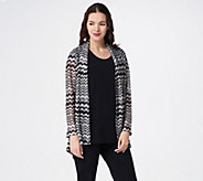 Susan Graver Sweater Knit Open Front Long-Sleeve Cardigan - A351008