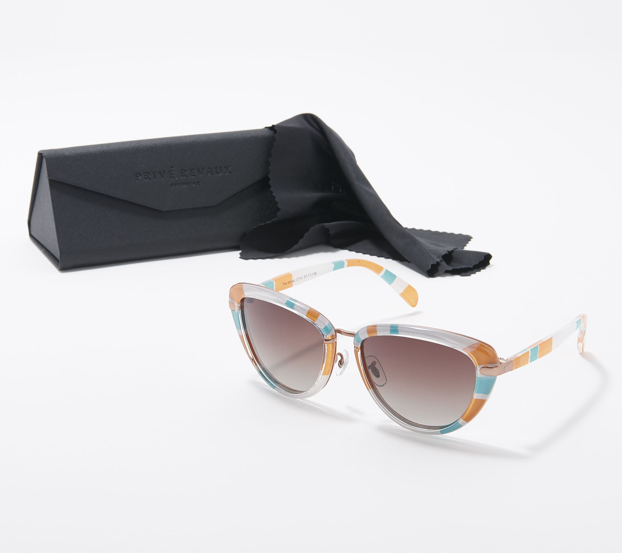 edf4d44589 Prive Revaux The Monet Polarized Cat-Eye Sunglasses - Page 1 — QVC.com