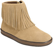 Aerosoles Leather Fringed Ankle Booties - GoodFun - A362008