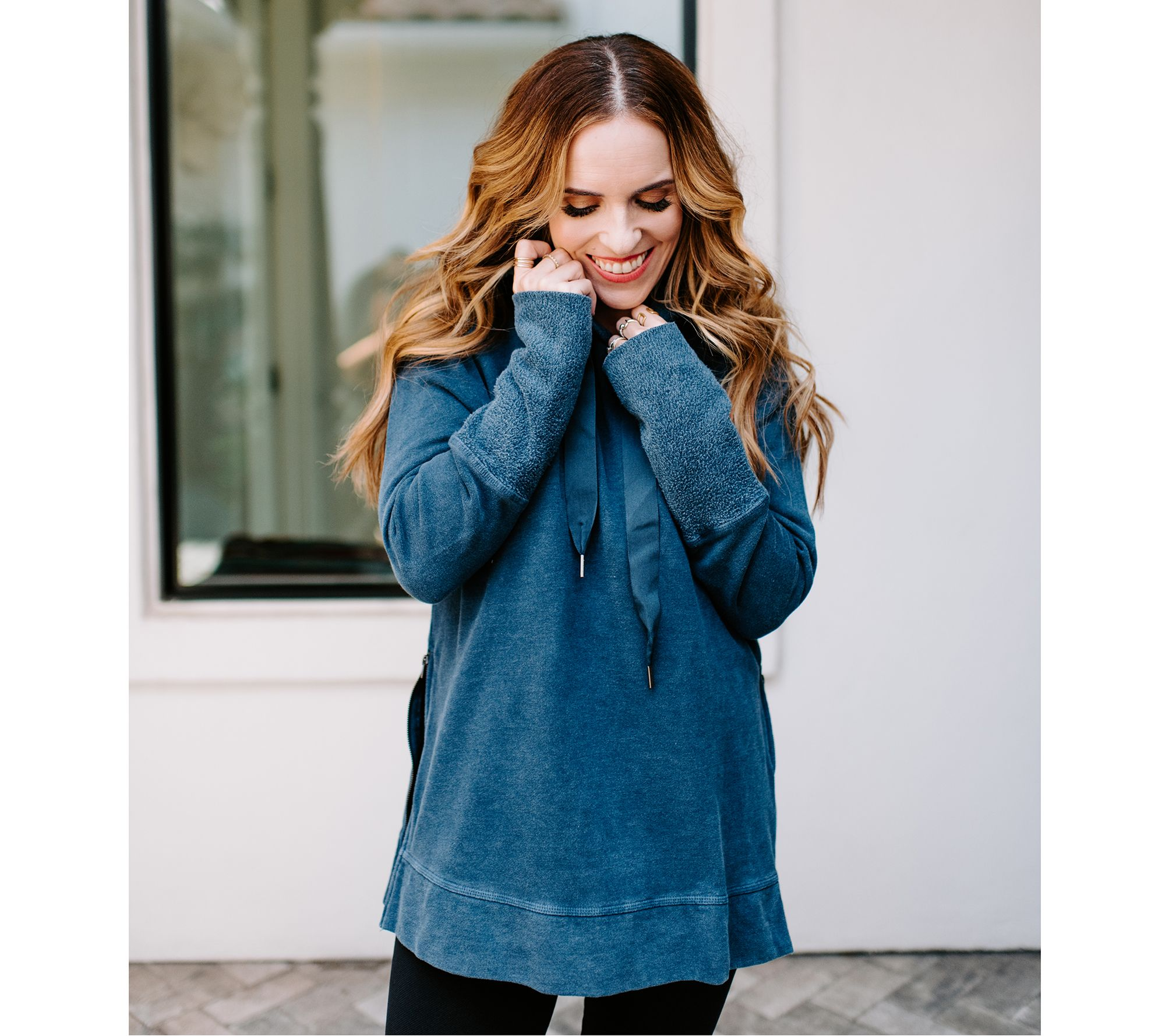Rachel Hollis Ltd Hooded Sweatshirt With Side Zip Detail by Rachel Hollis Ltd