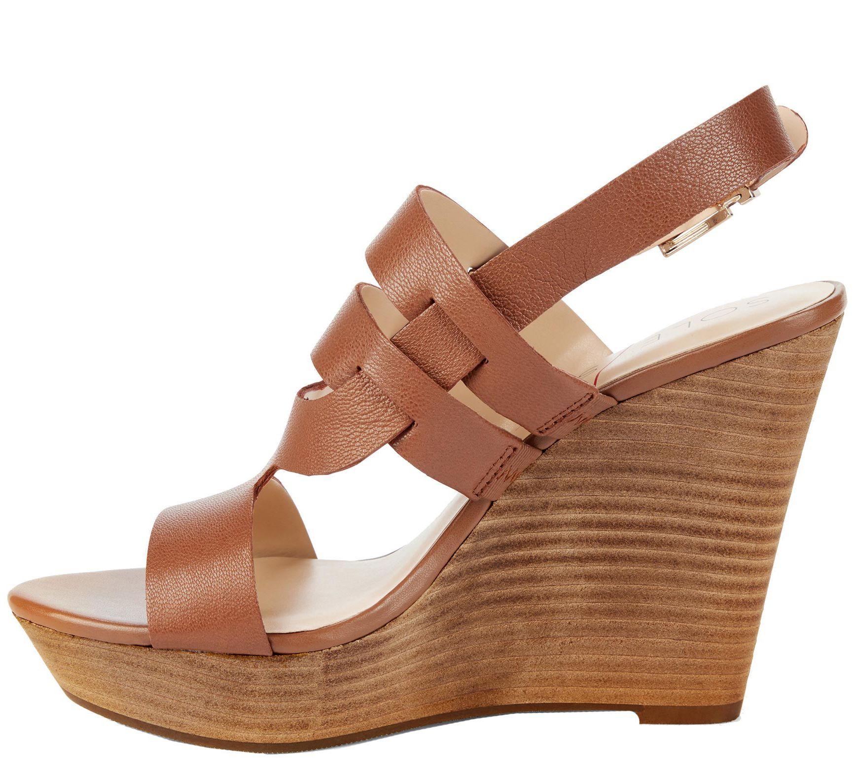 68c857fc5e79 Sole Society Platform Wedge Sandals - Jenny — QVC.com