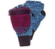MUK LUKS Womens Fingerless Flip Mittens - A416308
