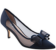 Nina Mid-Heel Pointed Toe Pumps - Bianca - A421608