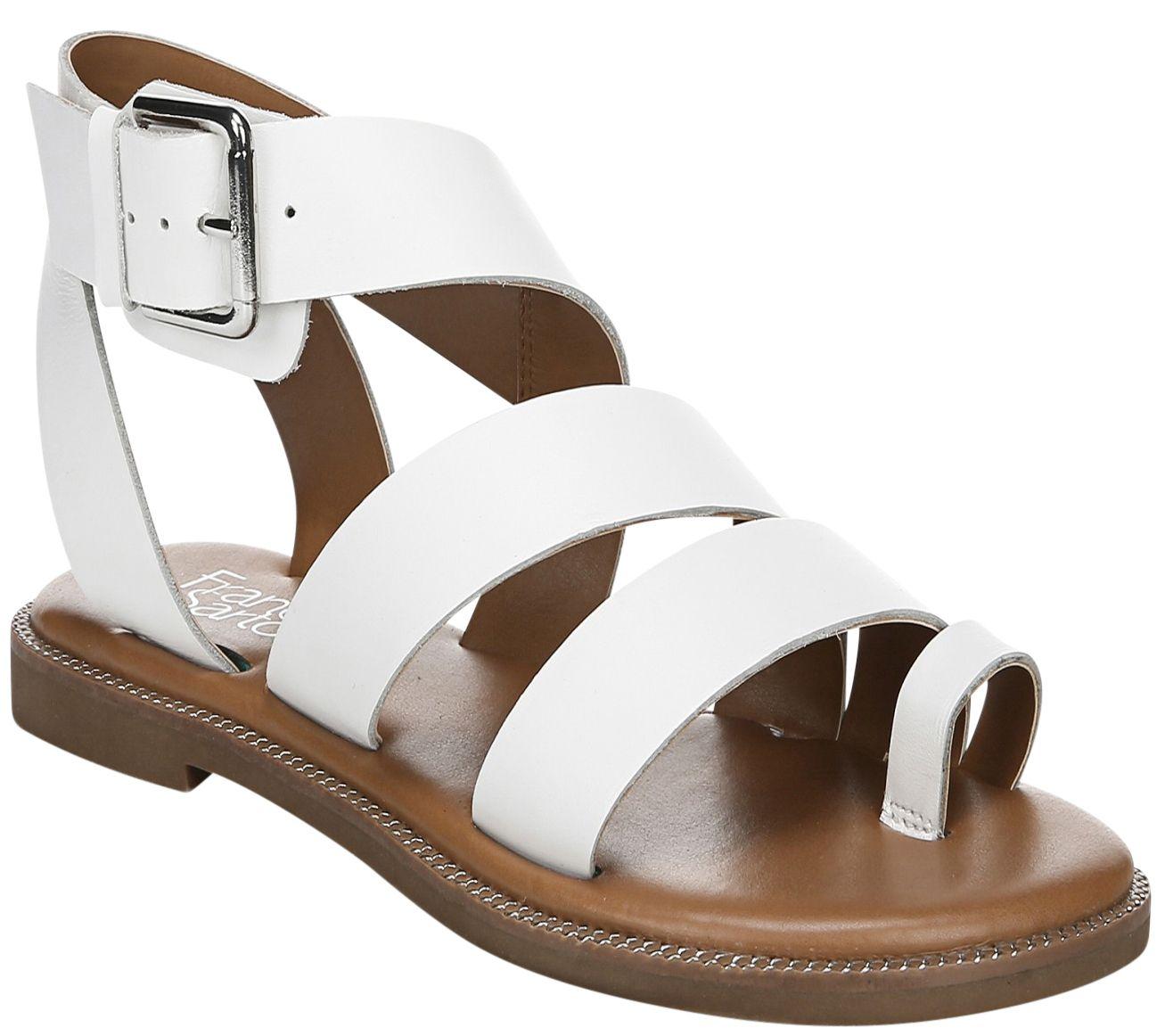 6e330cde2373 Franco Sarto Leather Gladiator Sandals - Kehlani - Page 1 — QVC.com