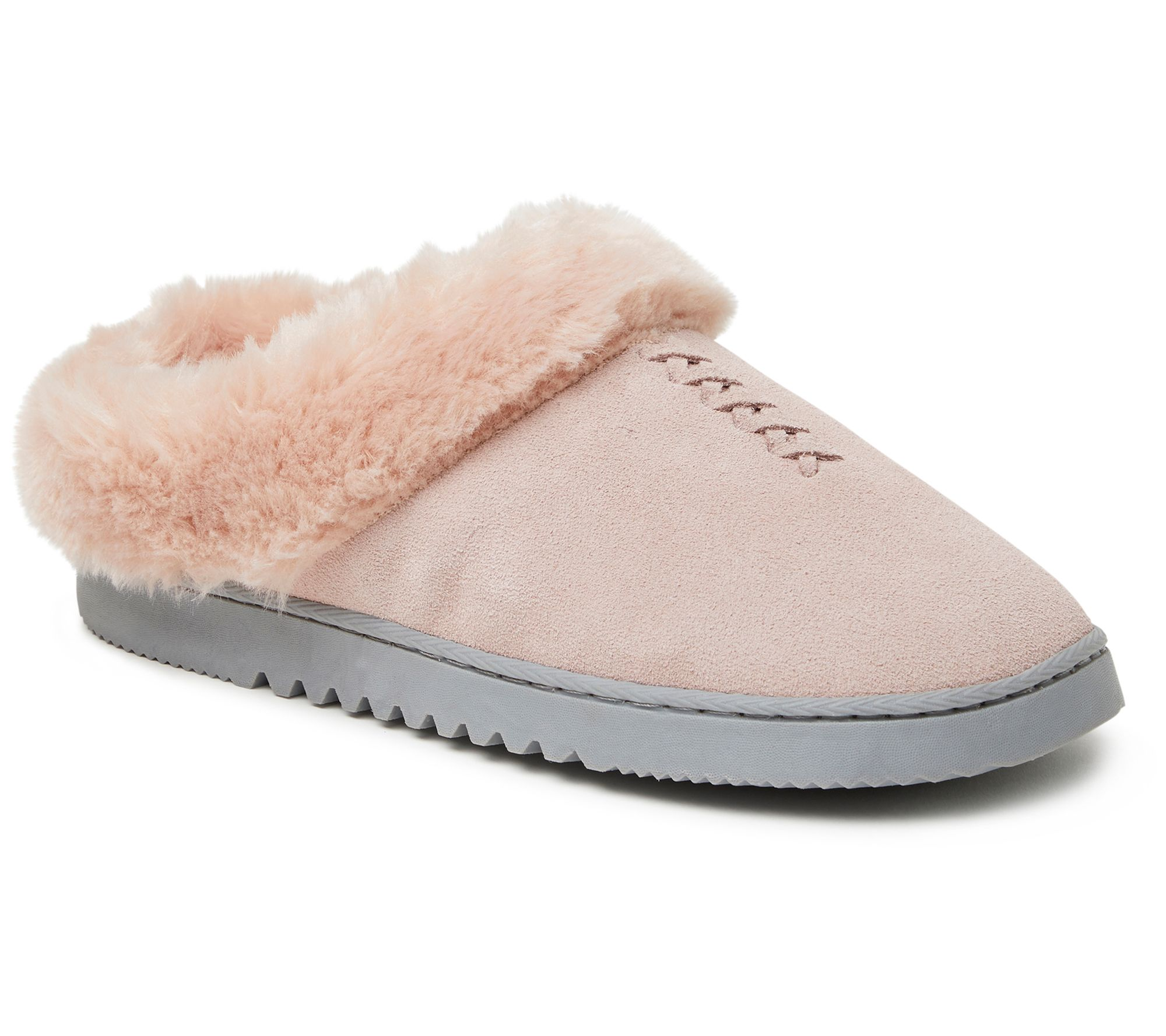 Keep your feet warm with suede clog slippers