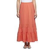 Liz Claiborne New York Eyelet Trimmed Knit Maxi Skirt - A232709