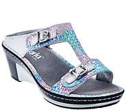 Alegria Leather Slip-on Sandals w/ Strap Details - Lara - A262509