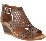 Earth Leather Cut-out Wedges - Danae - A289309