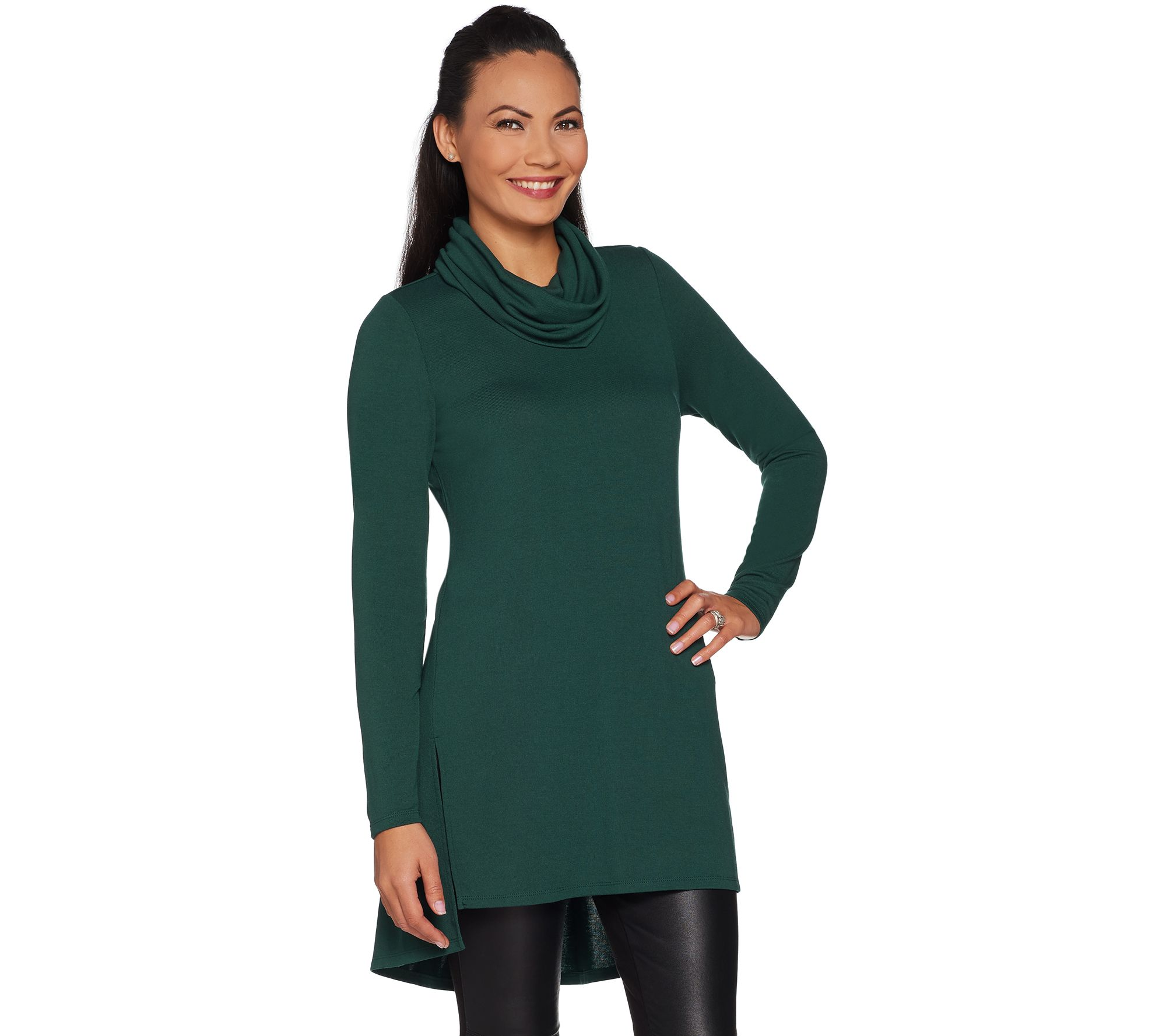 f033f190d5747b Lisa Rinna Collection Regular Cowl Neck Tunic with Seam Detail - Page 1 —  QVC.com
