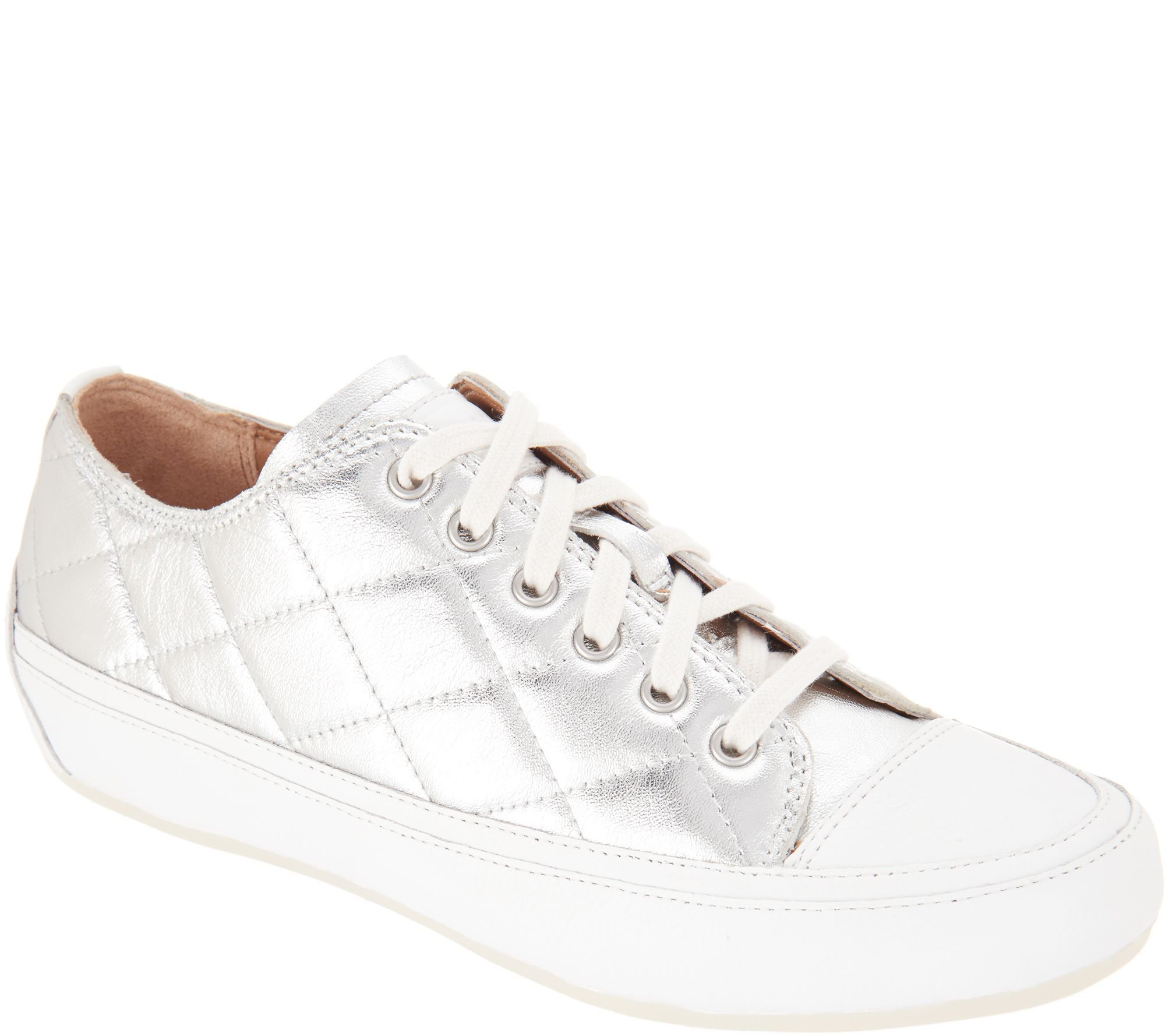 822b42ef30e Vionic Orthotic Quilted Lace-up Sneakers - Edie - Page 1 — QVC.com