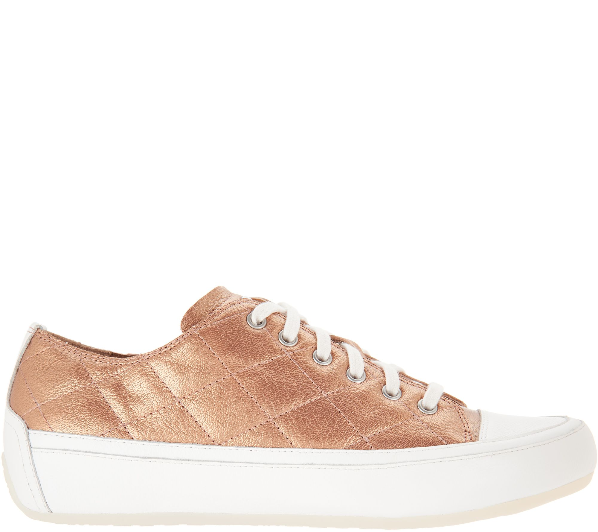 49c64fc809 Vionic Orthotic Quilted Lace-up Sneakers - Edie - Page 1 — QVC.com