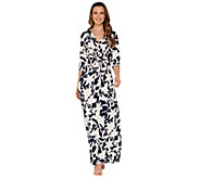 G.I.L.I. Regular 3/4 Sleeve Twist Front Maxi Dress - A302109