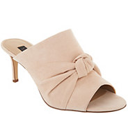 G.I.L.I. Knotted Front Open Toe Mules - Kadie - A302909