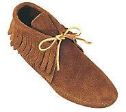 Minnetonka Womens Classic Fringe Soft-sole Boots - A320109