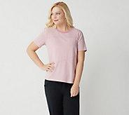 AnyBody Loungewear Cozy Knit Mixed Stripe T-Shirt - A349809