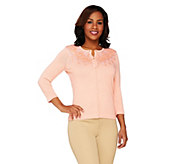 Isaac Mizrahi Live! Special Edition Embellished Cardigan - A264310