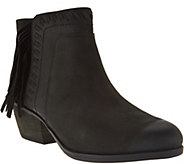 Clarks Artisan Nubuck Fringe Ankle Boots - Gelata Flora - A282310