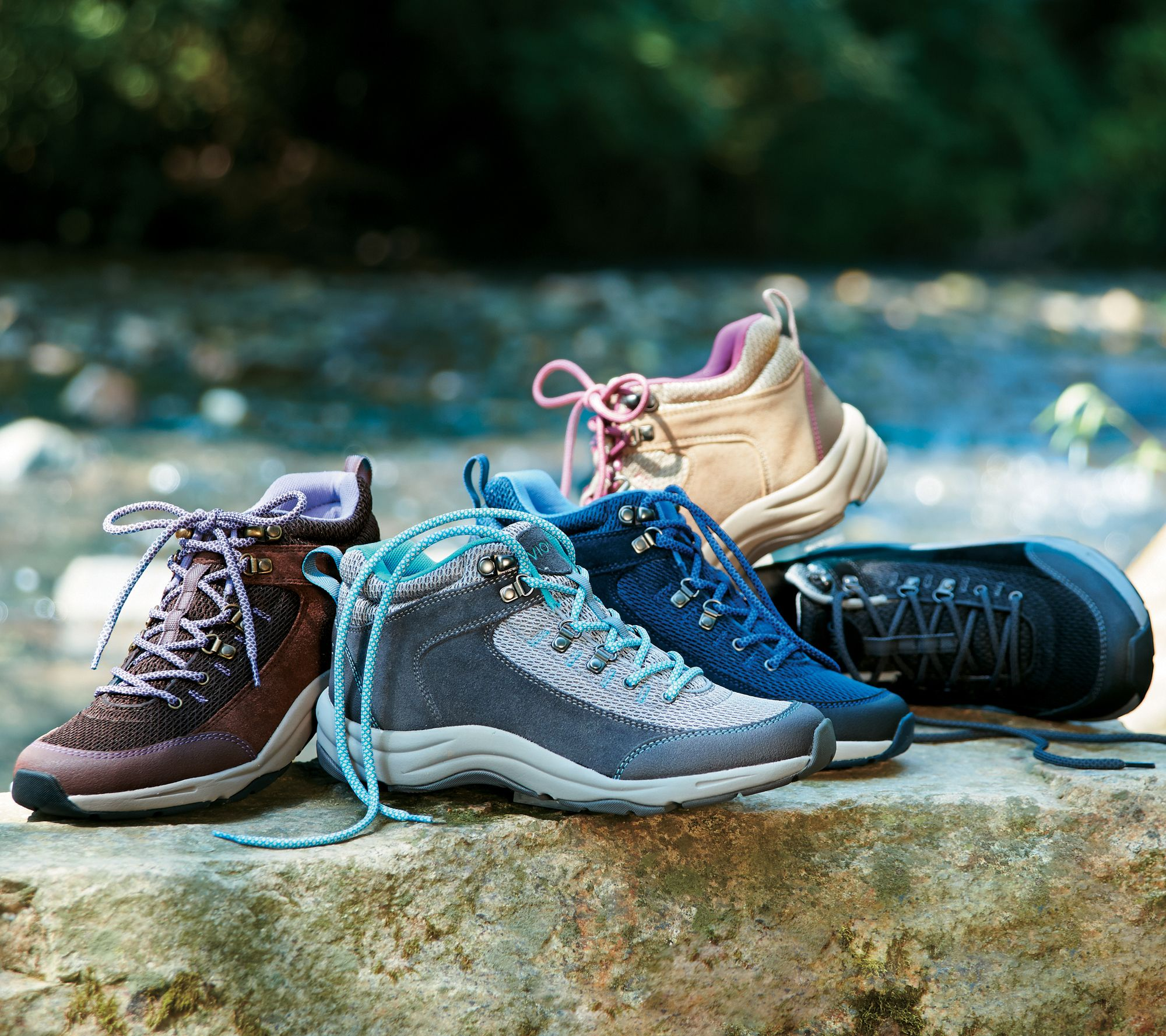Vionic Water-Resistant Hiking Sneakers - Cypress - Page 1 — QVC.com