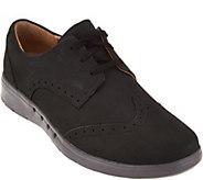Clarks UnStructured Nubuck Leather Lace-up Shoes - Un.Hinton - A284610
