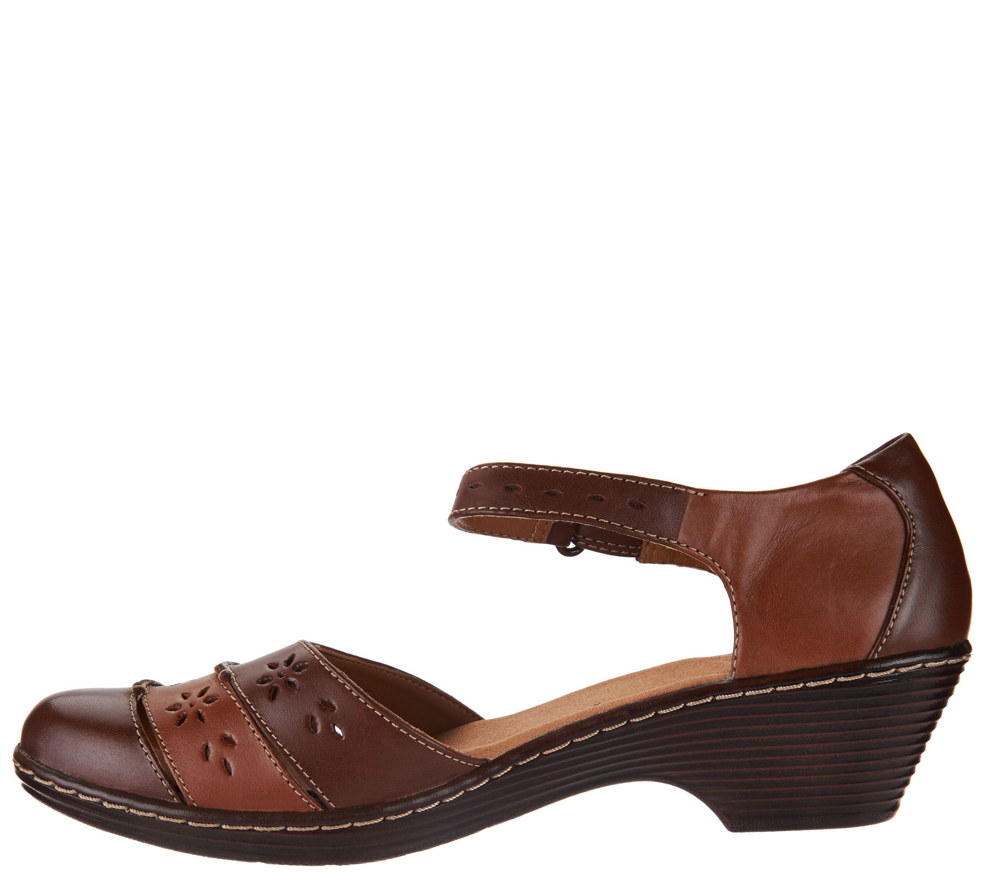 66bc409fa0b47 Clarks Leather Closed Toe Sandals - Wendy Leehi - Page 1 — QVC.com