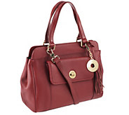 As Is Isaac Mizrahi Live! Bridgehampton Leather Satchel - A292510