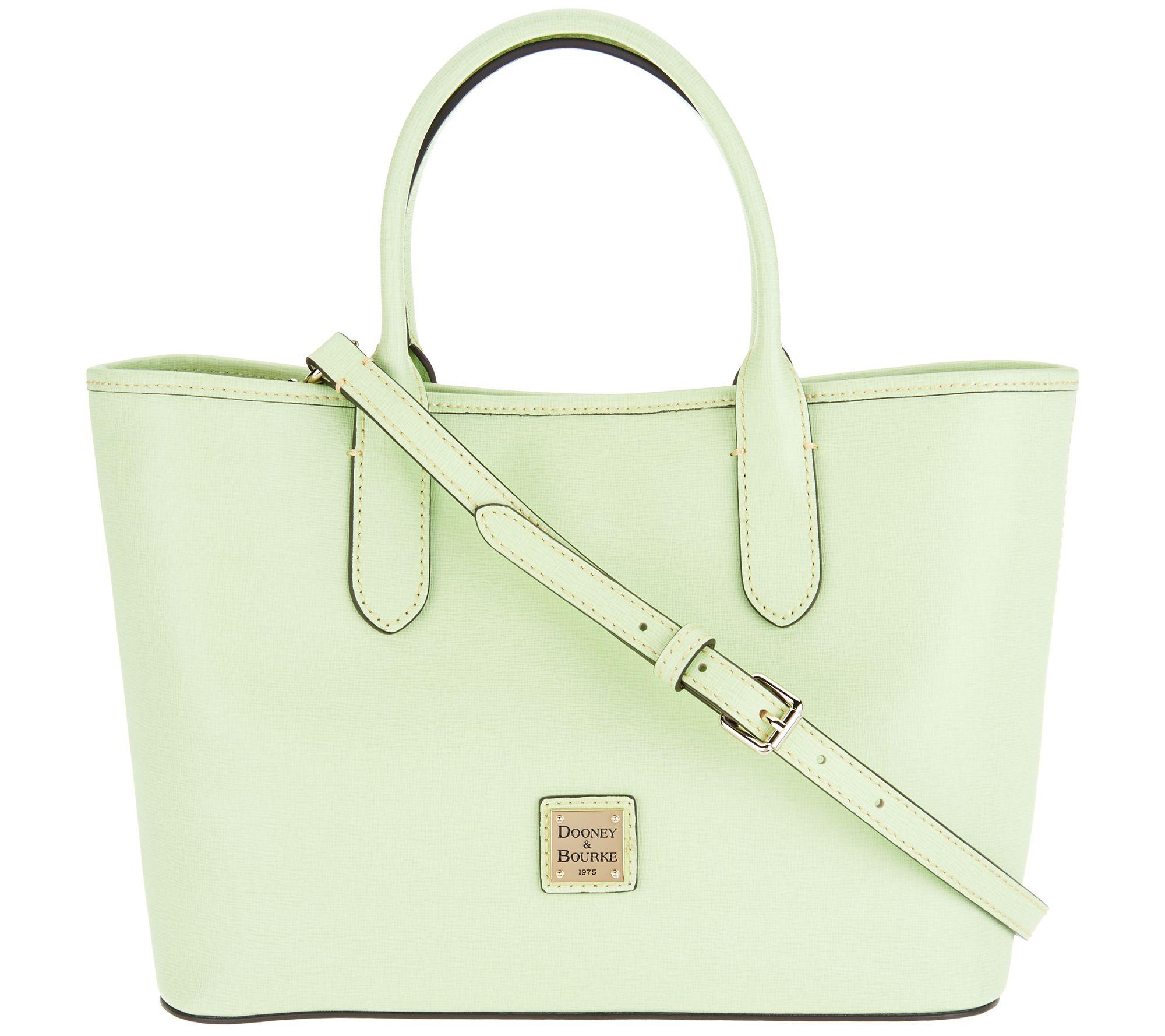Dooney   Bourke Saffiano Leather Satchel Handbag -Brielle - Page 1 — QVC.com 5e219af22cfdf