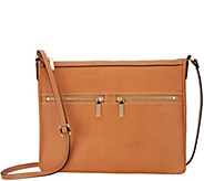 G.I.L.I. Leather Flat Double Zip Crossbody - A302710