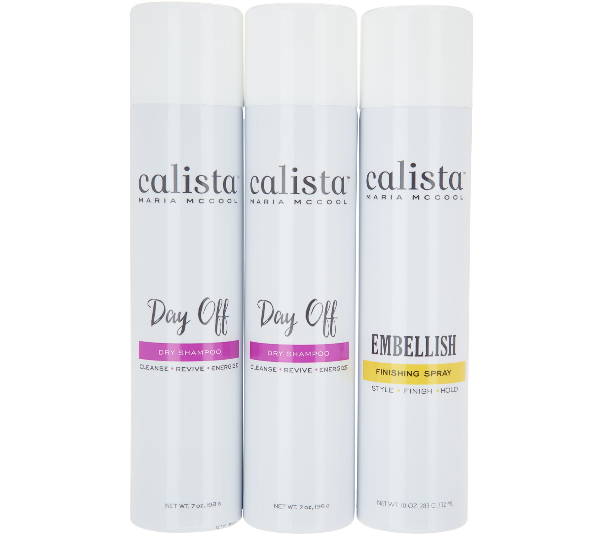 Calista 3-Piece Day Off Dry Shampoo Duo with Embellish Volume Spray ...