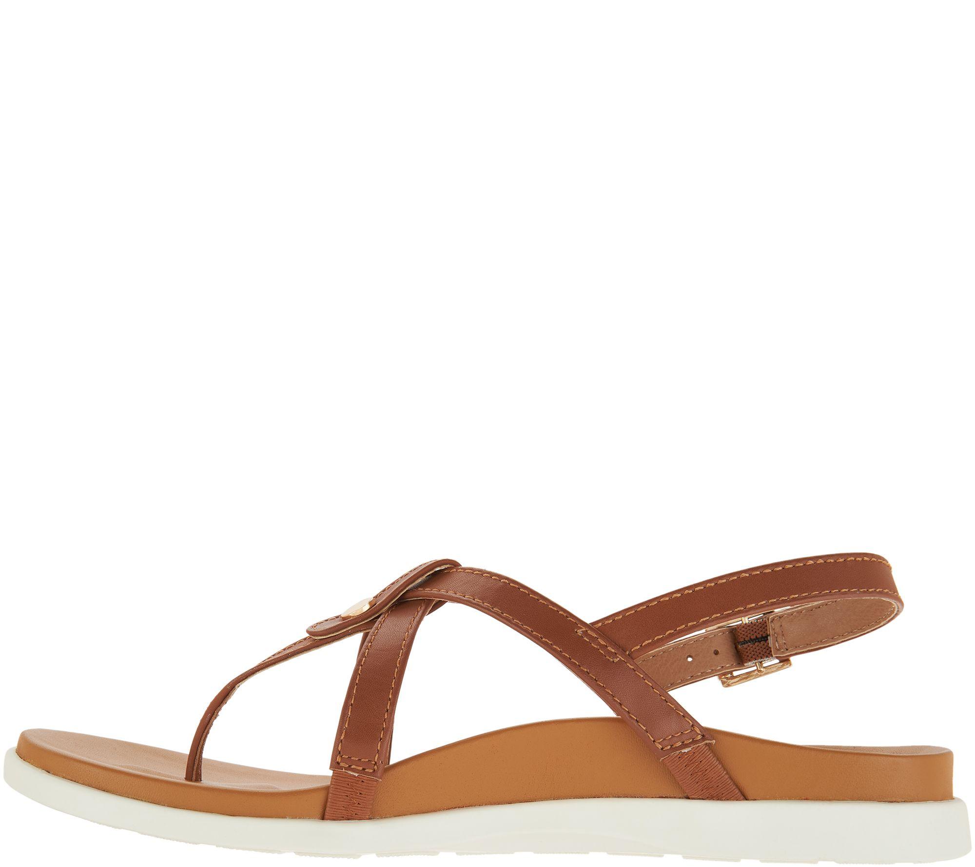 2d525ebaf07ab Vionic Leather Thong Back-Strap Sandals - Veranda - Page 1 — QVC.com