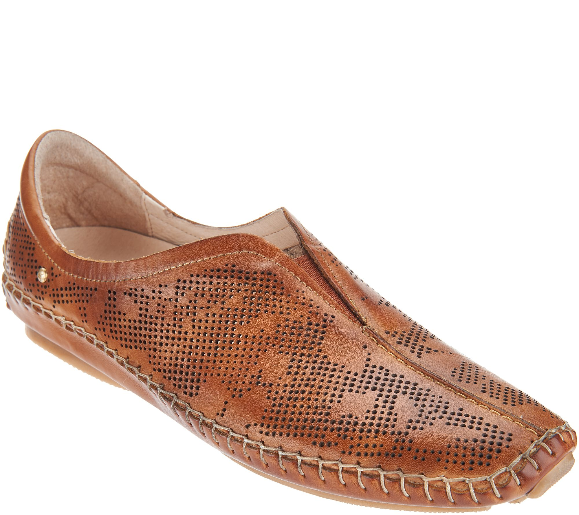 clearance sale laest technology new photos Pikolinos Lazer Perforated Leather Slip On Shoes - Jerez — QVC.com