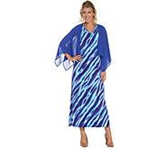 Bob Mackies Animal Print Maxi Dress with Solid Woven Shrug - A305610