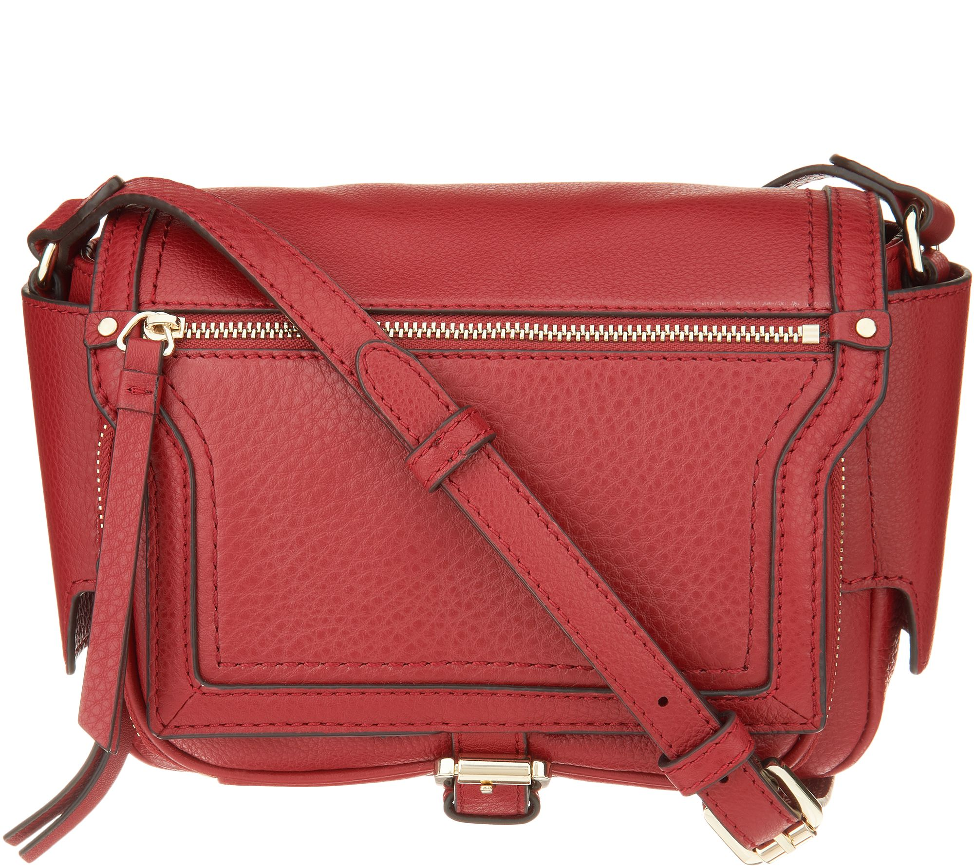 570181d07c51 Vince Camuto Leather Crossbody - Dot - Page 1 — QVC.com