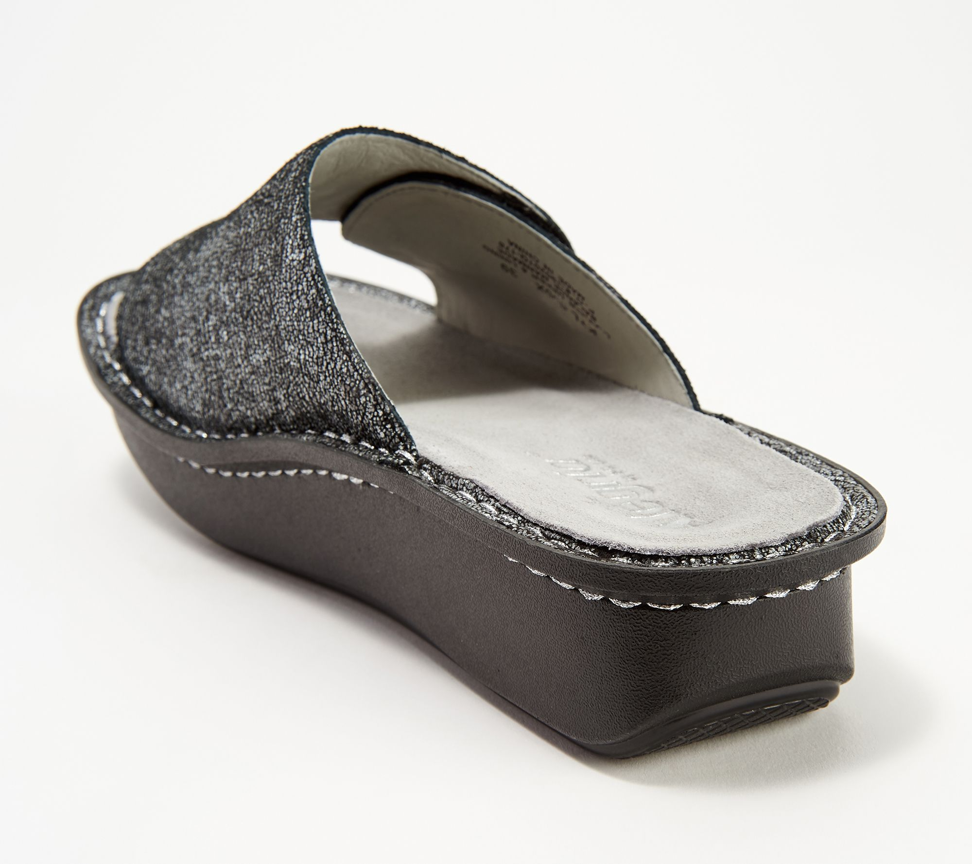 09fbb8bb4102 Alegria Leather Printed Slide Sandals - Kylee - Page 1 — QVC.com