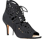 Sole Society Lasercut Leather Sandals - Juniper - A357010