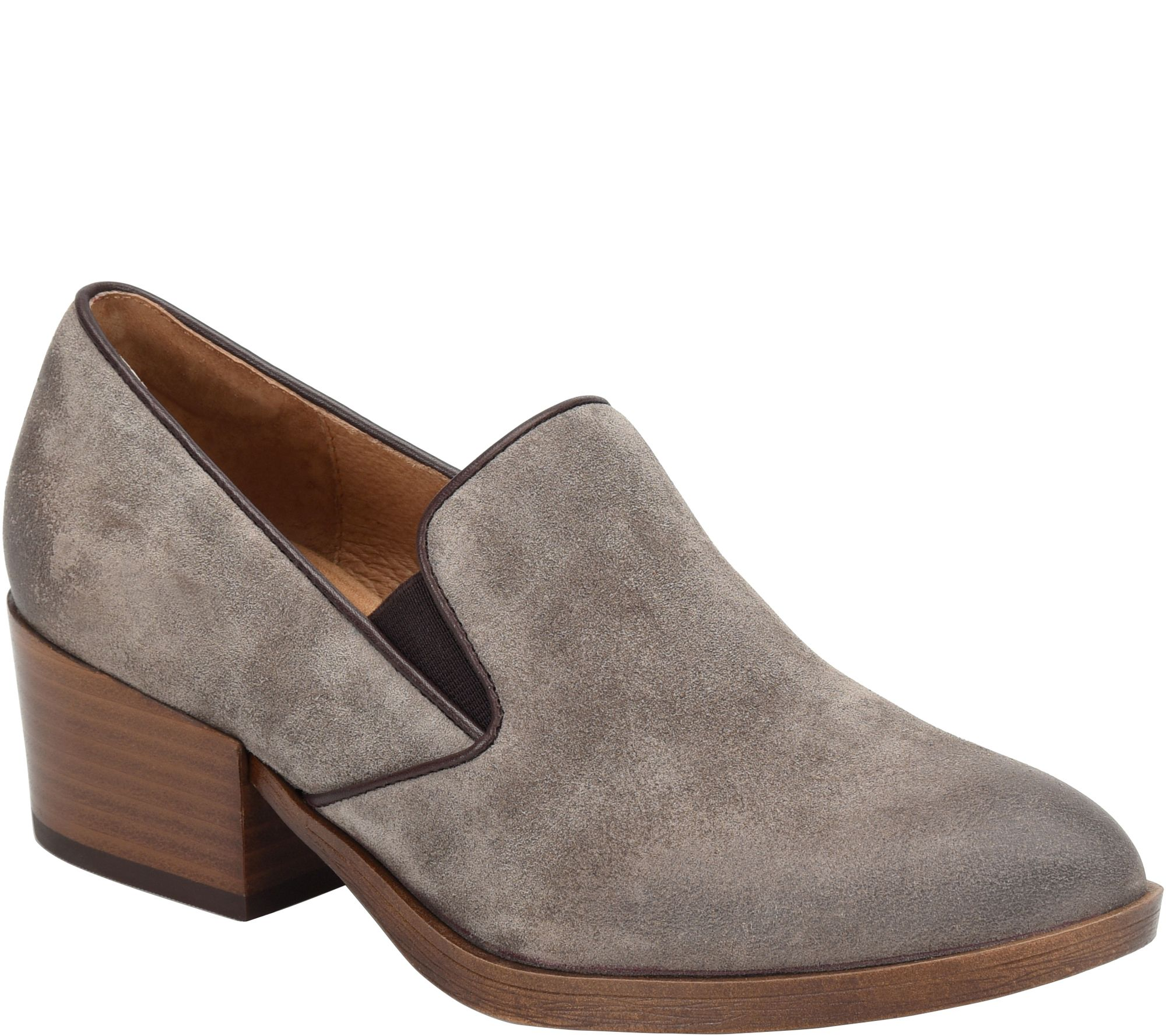 52191c5bcac Sofft Leather Slip On Loafers - Velina - Page 1 — QVC.com