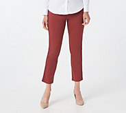 Joan Rivers Regular Signature Knit Ankle Pants w/ Grosgrain Trim - A366910