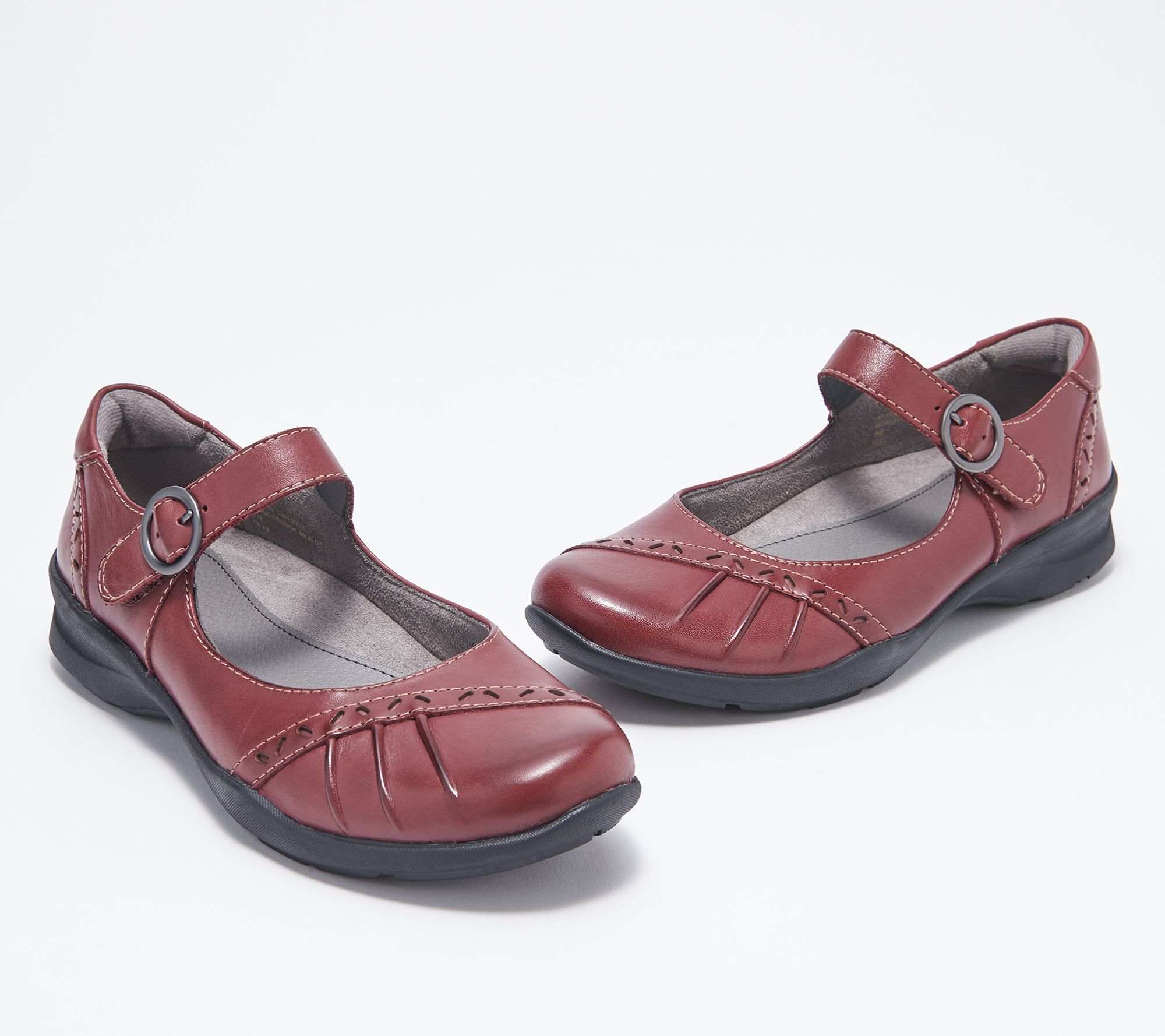 pretty nice c39f5 9f38f Earth Leather Mary Jane Shoes - Natural Superior — QVC.com