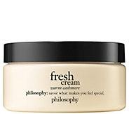 philosophy fresh cream warm cashmere body souffle, 8 fl oz - A412010