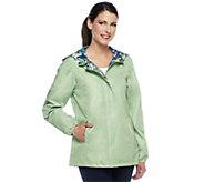 Susan Graver Reversible Zip Front Jacket with Hood - A251311
