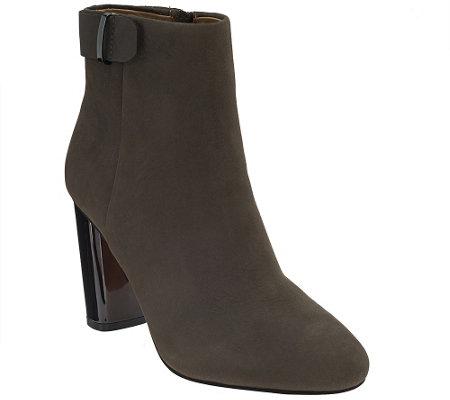 G.I.L.I. Leather Block Heel Ankle Boots - Kallie
