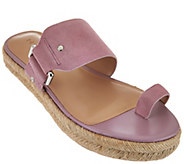 H by Halston Suede Buckle Espadrille Slides - Savannah - A276511
