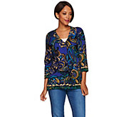Isaac Mizrahi Live! Engineered Paisley Printed Cardigan - A279011