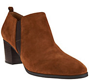 Franco Sarto Leather or Suede Ankle Boots - Banner - A282611