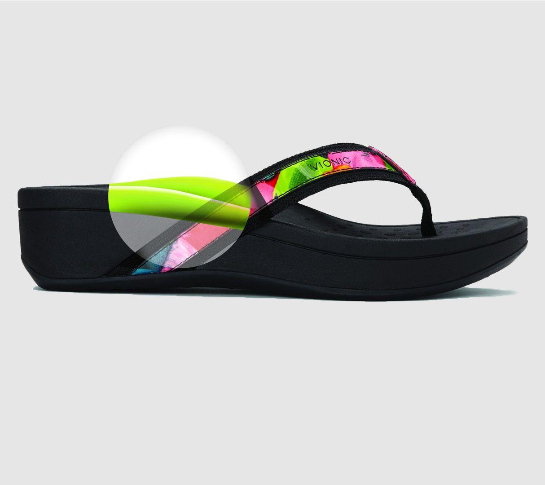 5d083ff20fb1 Vionic Platform Leather Sandals - High Tide - Page 1 — QVC.com