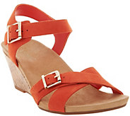 Vionic Orthotic Ankle Strap Suede Wedges - Anka - A287711